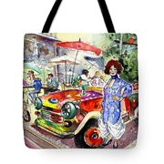 The Klimt Girl In A Ruin Bar In Budapest Tote Bag