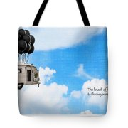 The Knack Of Flying Tote Bag by Edward Fielding