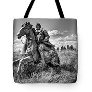 The Knight Goes Forth Tote Bag by Daniel Hagerman