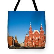 The Kremlin Towers And The State Museum Of Russian History Tote Bag