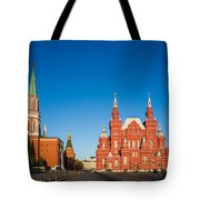 The Kremlin Towers And The State Museum Of Russian History - Square Tote Bag