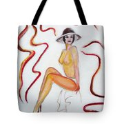 The Lady In Red High Heels Tote Bag