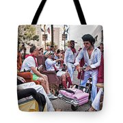 The Laissez Boys At Running Of The Bulls In New Orleans Tote Bag