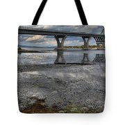 The Lake Champlain Bridge From Cown Point Tote Bag