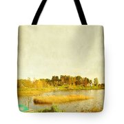 The Lake In Autumn Tote Bag