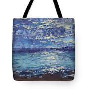 The Lake On A Cloudy Day In October Tote Bag