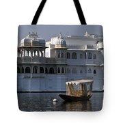 The Lake Palace, India Tote Bag