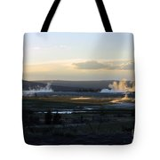 The Land Of Geysers. Yellowstone Tote Bag