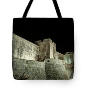 The Landside Walls Of Dubrovnik At Night No1 Tote Bag