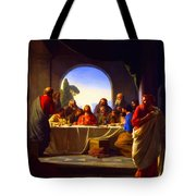The Last Supper By Carl Heinrich Bloch Tote Bag