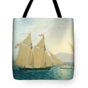 The Launch La Sociere On The Lake Of Geneva Tote Bag by Francis  Danby