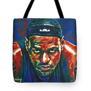 The Lebron Death Stare Tote Bag