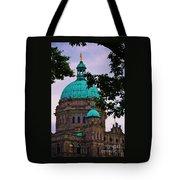 An Aspect Of The Legislative Building, Victoria, British Columbia Tote Bag