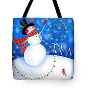 The Letter S For Snowman Tote Bag