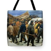 The Lifeboat Is Taken Through The Dunes Tote Bag