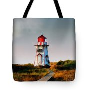 The Light At Covehead Harbour Tote Bag