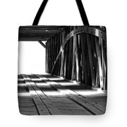 The Light At The End Of The Bridge Tote Bag