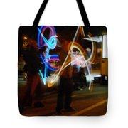 The Light Jugglers Tote Bag by Steve Taylor