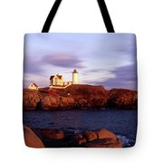 The Light On The Nubble Tote Bag by Skip Willits