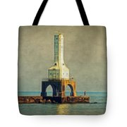The Lighthouse And The Fisherman Tote Bag