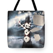 The Lighthouse And The Fishermans Tale Tote Bag