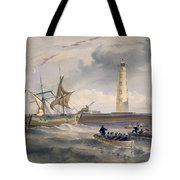 The Lighthouse At Cape Chersonese Tote Bag