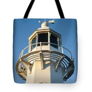 The Lighthouse At Mevagissy Tote Bag