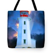 The Lighthouse At Peggys Cove Tote Bag