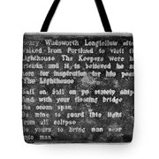 The Lighthouse Poem Tote Bag