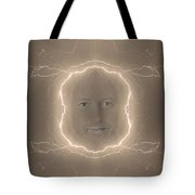 The Lightning Man Sepia Tote Bag