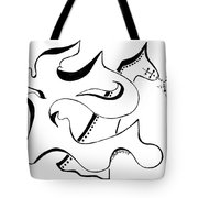 The Lion And Horse Tote Bag