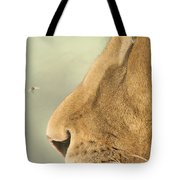 The Lion And The Fly Tote Bag