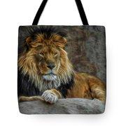 The Lion Digital Art Tote Bag