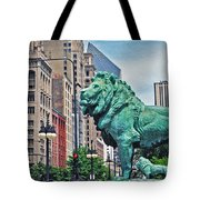 The Lions Of Chicago Tote Bag