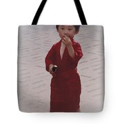 The Little Boy In The Red Silk Dress Tote Bag