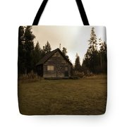 The Little Cabin In The Woods Tote Bag