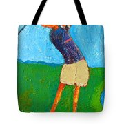 The Little Golfer Tote Bag