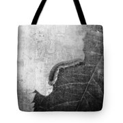 The Little Inchworm - B And W Tote Bag