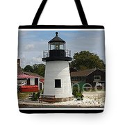 The Little Lighthouse At Mystic Tote Bag