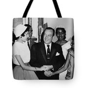 The Little Rock Nine Tote Bag by Benjamin Yeager