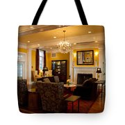 The Lobby Fireplace At The Sagamore Resort Tote Bag