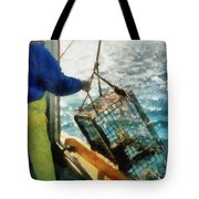 The Lobsterman Tote Bag by Michelle Calkins
