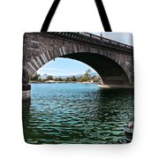 The London Bridge Is In Arizona Tote Bag