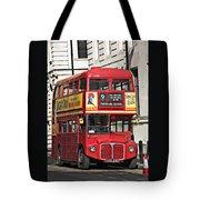 Vintage London Bus Tote Bag