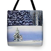 The Lone Christmas Tree Tote Bag