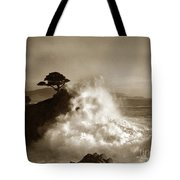 The Lone Cypress Midway Point Pebble Beach  Lewis Josselyn  Circa 1916  Tote Bag