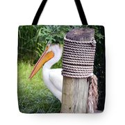 The Lone Pelican Tote Bag
