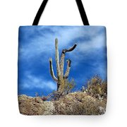 The Lonely Suguaro Tote Bag