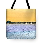 The Long Pier - Art By Sharon Cummings Tote Bag