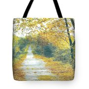 The Long Road Home - Oil Tote Bag
